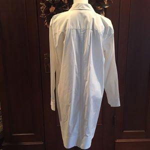 Madewell Dresses - Madewell Courtyard white shirtdress L NWT